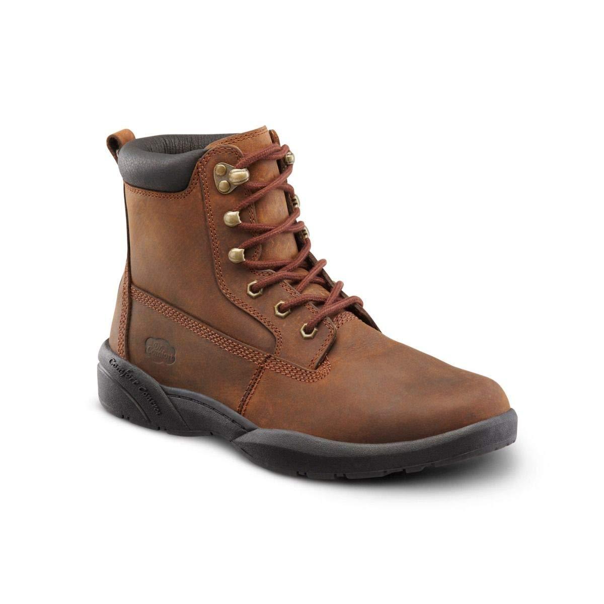 Dr. Comfort Men's Boss Diabetic Boots: Chestnut 12 Wide (E/2E) by Dr. Comfort