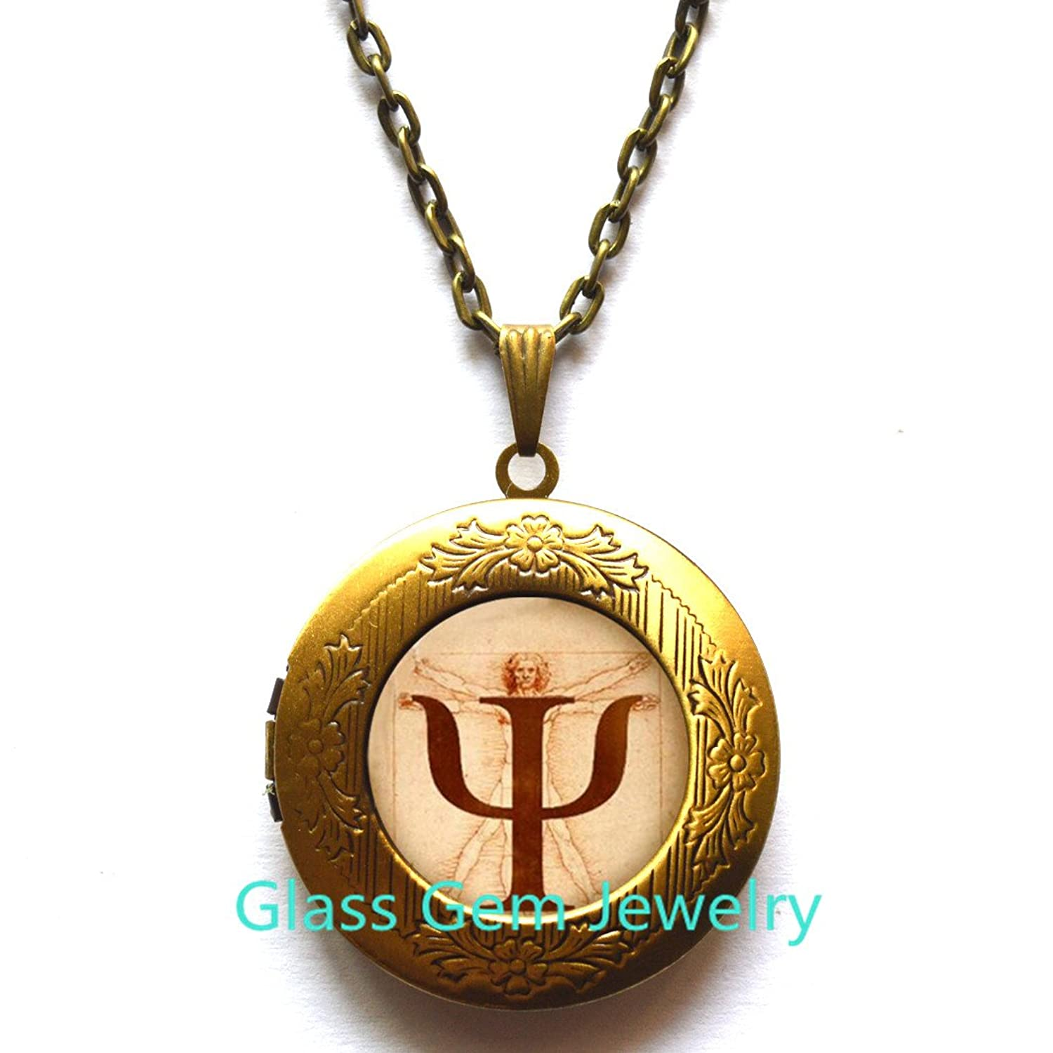 Amazon Psi Symbol Locket Necklace Psychology Locket Pendant
