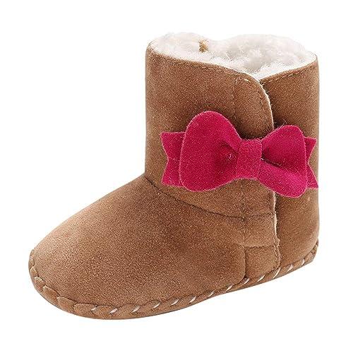 Scarpe Primi Passi Topgrowth Bambina Stivali da Neve Bowtie Stivali Neonato  Infantile Culla Stivali Invernali Stivaletti bbe3b948815