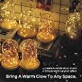 Lights Strings with Remote Control, Ofun 100 Leds Twinkle lights 33 Ft Copper Wire Lights for Indoor Outdoor, Decorative Lights,with Twinkling Feature