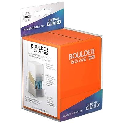 Ultimate Guard Deck Box Boulder Standard 100+ Poppy Topaz Orange Collectible Card Protection (UGD010846): Toys & Games