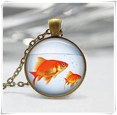 Collar de peces, de peces cuenco, Fish Tank, Acuario, Pecera, peces joyas,: Amazon.es: Joyería