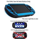COSMOS ® Light Blue Protection Hard Case Cover for Playstation PS VITA 1000, Fits for Oval Start & Select Button Only, with LCD Touch Screen Cleaning Cloth