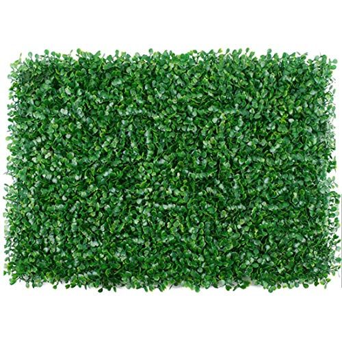 uyoyous Artificial Boxwood Hedge Plant Greenery Screen Panels for Outdoor Indoor Garden Home Deco 12PCS 24