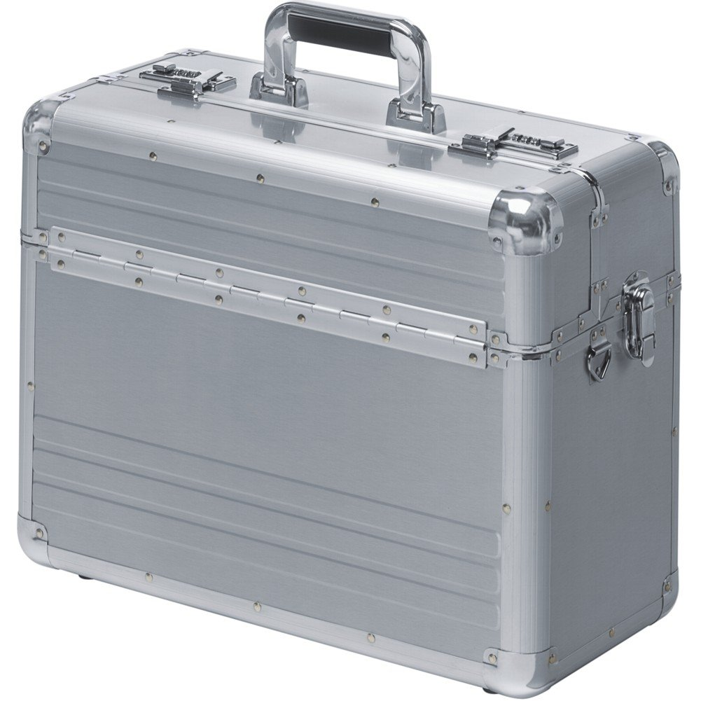 Valise Mallette De Pilote Aluminium Argent Serrure à Combinaison 48026