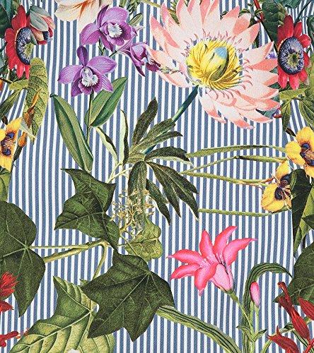 Kleid und Damen Streifen Sträter mit Blumenmuster Orange Claudia qwSB74Hz