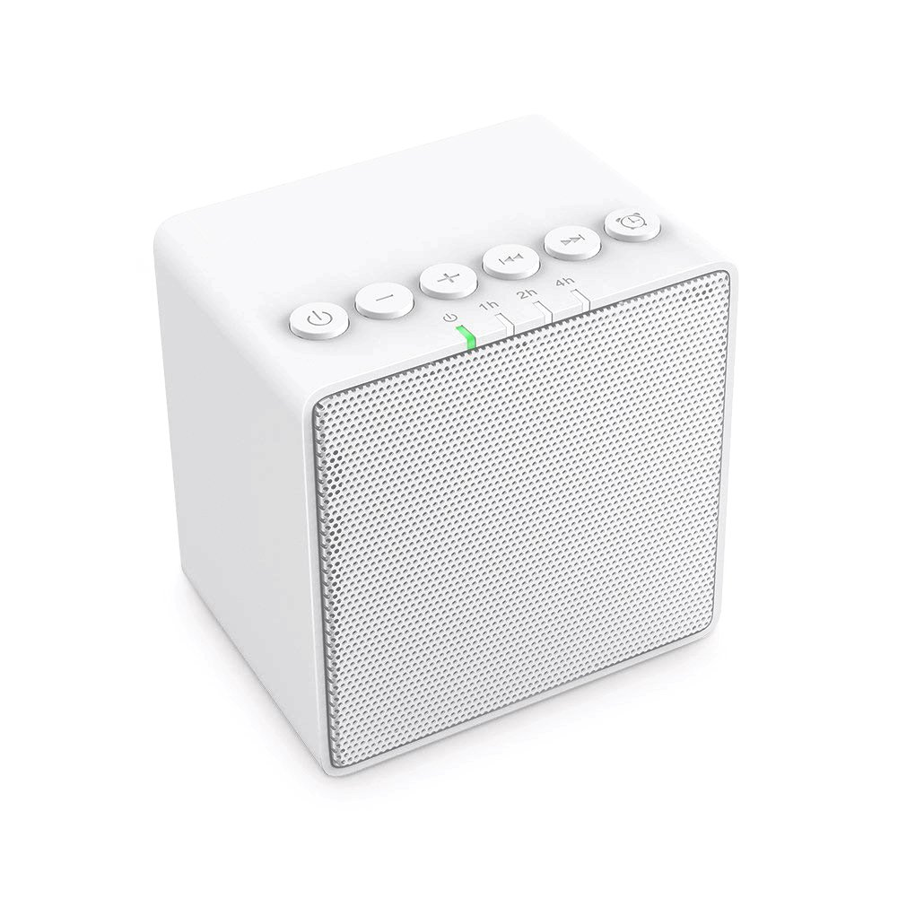 X-Sense Portable White Noise Machine with 30 Non-Looping Soothing Sound, Rechargeable Sleep Sound Machine with 12-Hour Runtime and 7 Timer Settings, Ideal for Baby, Kids, Adults or Travel (White)