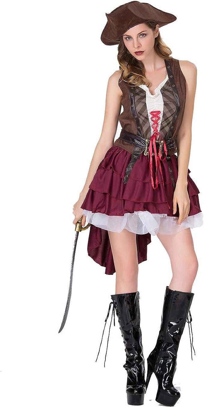 MIAO Disfraz De Halloween Disfraz De Adulto Disfraz De Pirata ...