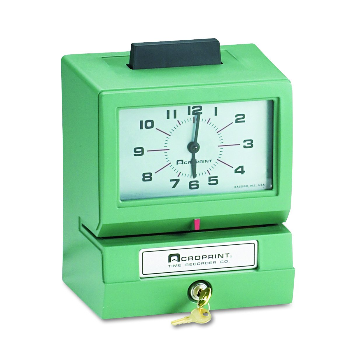 Amazon.com : Acroprint 011070413 Model 125 Analog Manual Print Time Clock with Month/Date/0-23 Hours/Minutes : Office Products