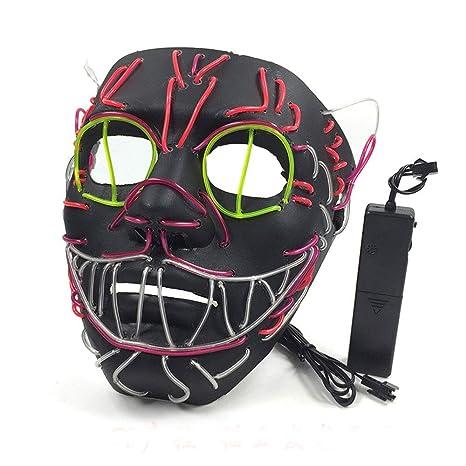Edelehu Elvis LED Máscara Luminosa De Halloween Máscara De Miedo ...