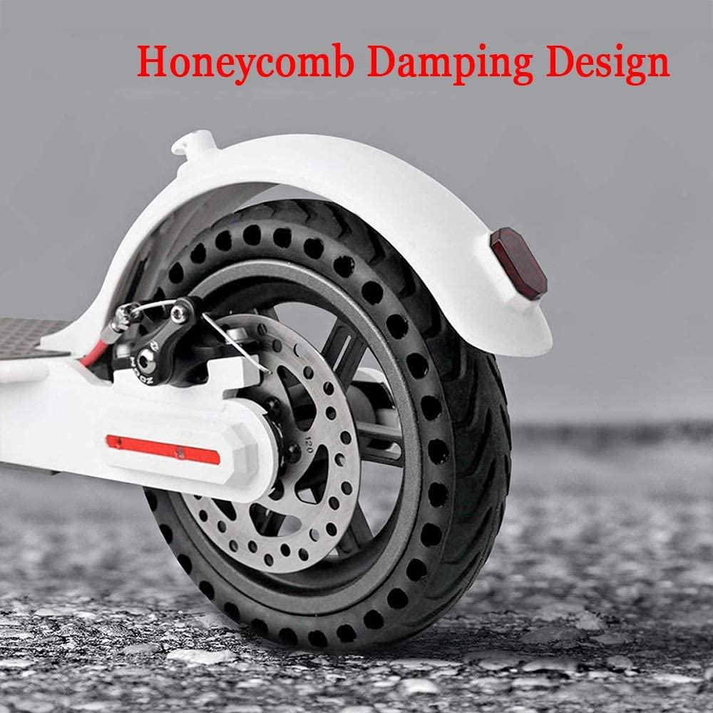 Kunovo 【8.5 Inch】 Explosion-Proof Solid Tire Wheel Hub Set Replacemen for Xiaomi Mi m365 Electric Scooter