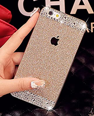 iPhone 6/6S Case,Aroko (TM) Beauty Luxury Diamond Hybrid Glitter Bling hard Shiny Sparkling with Crystal Rhinestone Cover Case for Apple iPhone6/6S 4.7'' inch by Aroko