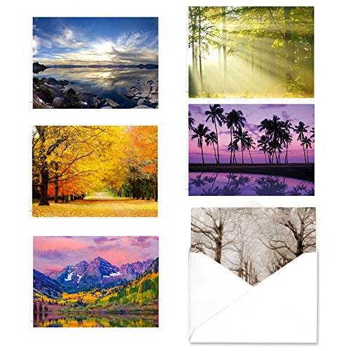 Breathtaking Landscape Note Card Assortment Pack - Set of 36 cards - 6 of each design with ()