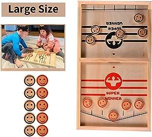 Kefeierdodo Parents&Kids Game,Kids Game,Family Game,Hand Game ,Puck it Game,Desktop Battle Sport Game,Little Kids Board Games,Tabletop Foosball Games for Family(20 Pcs)(Large)