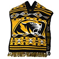 NCAA Missouri Tigers Poncho, Brown, Adult Size