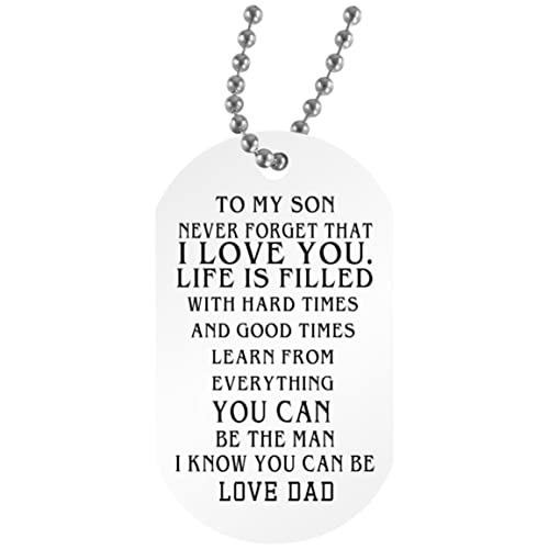 My Son Quotes | Amazon Com Econvenience Store To My Son Dog Tag Quotes Funny