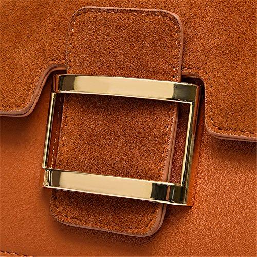 coursier matte square brown rétro Brown wild sac nouveau sac de sac large sac accotement épaule wWtHR