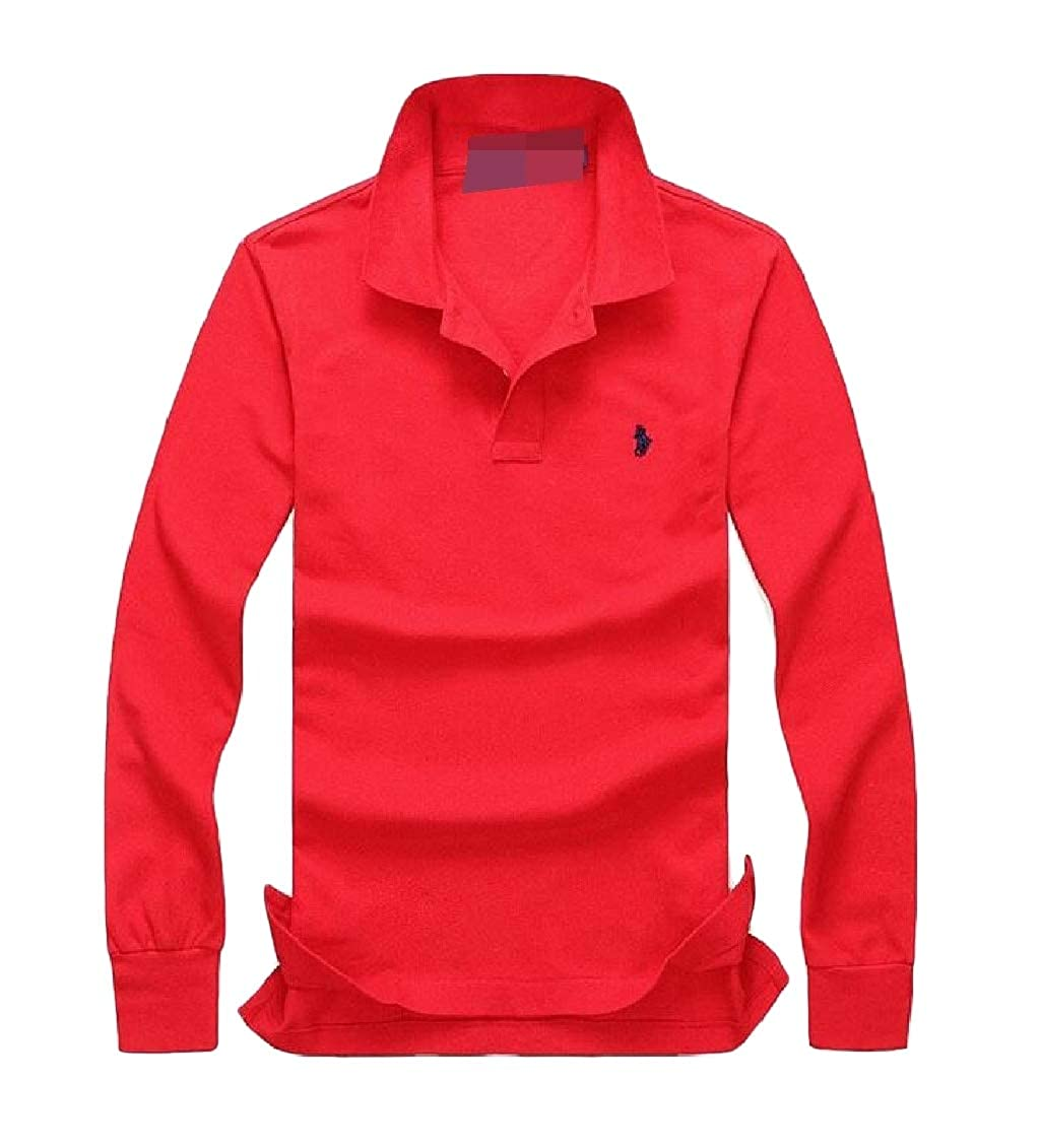 Sweatwater Mens Top Outdoor Solid Color Polos Long Sleeve Tee T-Shirts