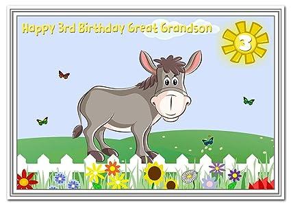 3er cumpleaños tarjetas para niños - 3 años niño pequeño ...