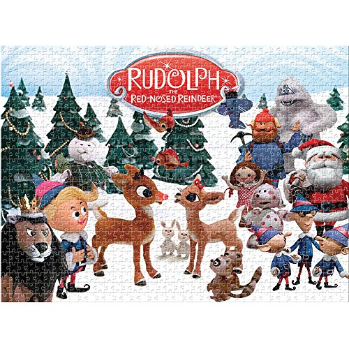 Christmas Movie Reindeer - Aquarius Rudolph The Red Nosed Reindeer 1000 Piece Jigsaw Puzzle