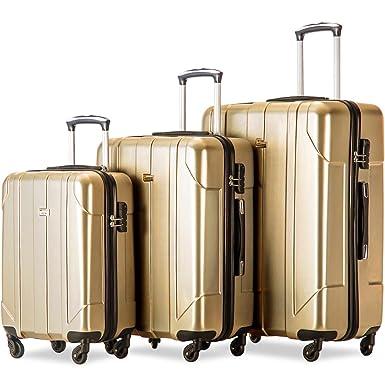 dfb83f406f0c Merax Luggage 3 Piece Set PET Luggage Spinner Suitcase Lightweight 20 24  28inch