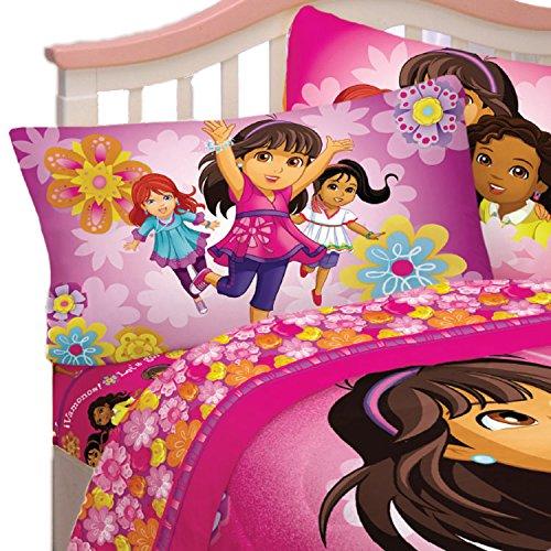 Cotton Dora (Nick Jr Dora and Friends Hola Amigas 60-Percent Cotton/40-Percent Polyester Sheet Set, Twin)