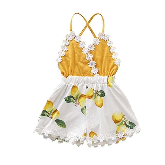 Unique Baby Girls Lace Jumpsuit Summer Outfit