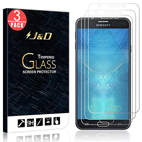 official photos ddb9f 990fd J&D Compatible for 3-Pack Galaxy J7 Prime, Galaxy J7 2017 Glass Screen  Protector, [Tempered Glass] [Not Full Coverage] Ballistic Glass Screen ...