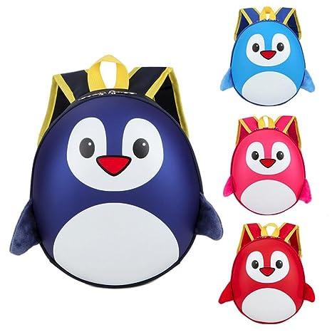 Amazon.com | Fabal ChildrenS Backpack 3D School Bag Mochila Escolar Menino Kindergarten School Bags For Girls Small Penguin Knapsack Kids Bag (Blue) ...