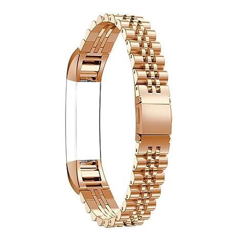 Bracelet Fitbit Alta HR, Bracelet Fitbit Alta Metal Rosa Schleife®Montre Connectée Bracelet Femme Metal ...