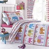 Carnival Elephants UK Single/US Twin Duvet Cover and Pillowcase Set' / Amazon: 'Carnival Elephants Single Bedding