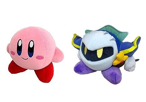 Little Buddy Set of 2 Kirbys Adventure All Star Stuffed Plushes - 1400 Kirby / 1402 Meta Knight, 5