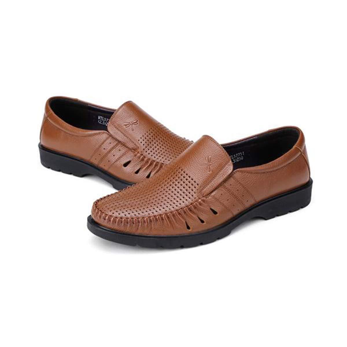 QINRUIKUANGSHAN Men's Shoes, Stylish and Comfortable, Men's Shoes, Sandals, Hole Shoes, Black and Brown Sports, (Color : Brown, Size : 39EU) by QINRUIKUANGSHAN