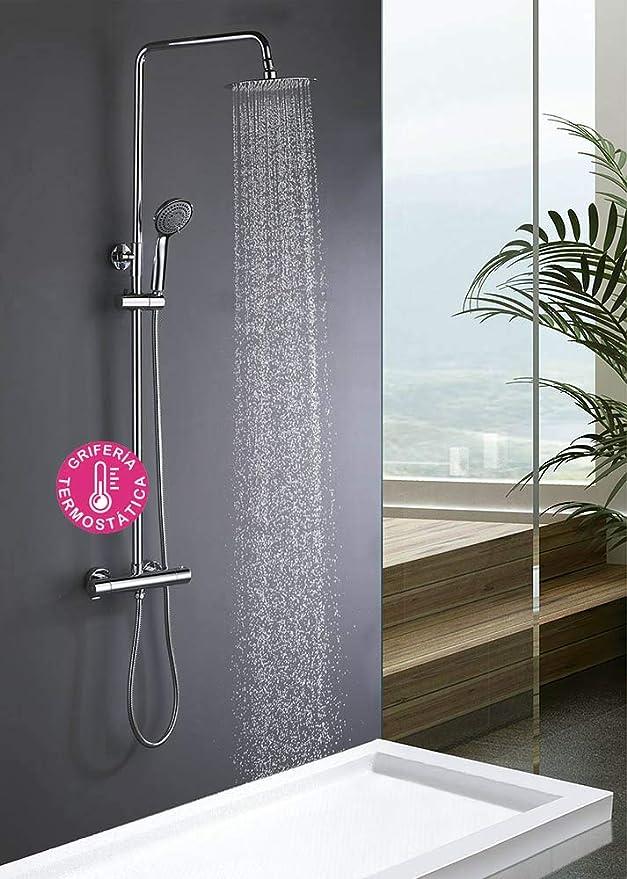 Kibath 403521 Columna termostática extralarga Tacto FRÍO diseño ...