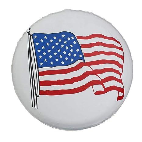 "Spare Tire Cover SUV Car Wheel shade Protector White American Flag 17/"" 80-83cm"