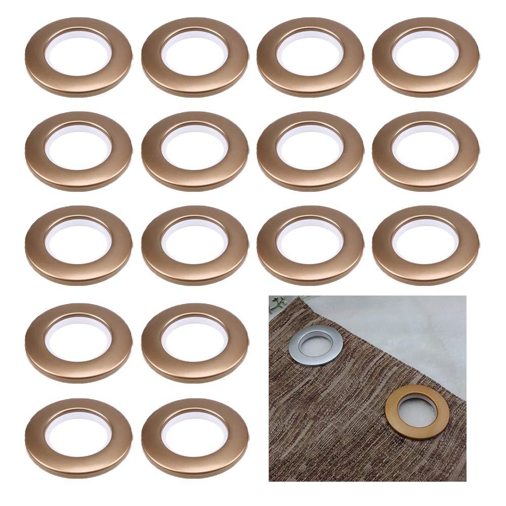CENGOOD Curtain Grommets 1-9//16 Inner Diameter Silencer Sliding Silver Pack of 16