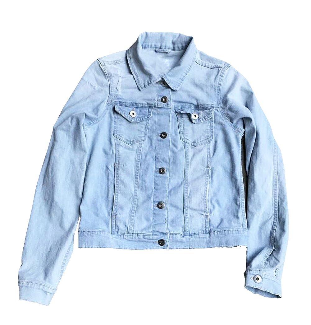 eKooBee Girls Denim Jean Jacket Outerwears