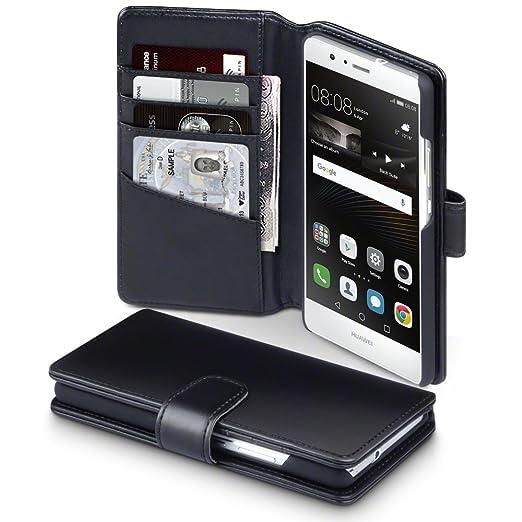 27 opinioni per Huawei P9 Lite Cover, Terrapin di Vera Pelle Della Cassa del Raccoglitore per