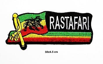 f423c8358aff8 El León de judá Rasta Reggae Rastafari Jamaica Logo chaleco Chaqueta  Sombrero Capucha mochila parche hierro en  Amazon.es  Juguetes y juegos