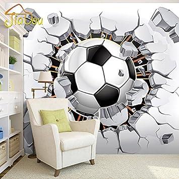 Leegt 3d Tapete Wallpaper Mural 3d Fussball Wallpaper Sport