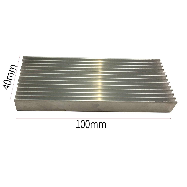 Semoic 3 Pcs Aluminium Power Amplifier Heatsink Heat Sink 100X40X11mm