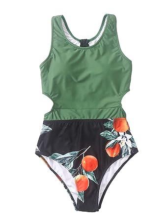 Design; Aerie Printed Side Tie Swim Suit Teal Green L New Novel In