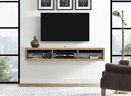 Martin Furniture IMSE360B Floating TV Console, 60inch, Burba Bank