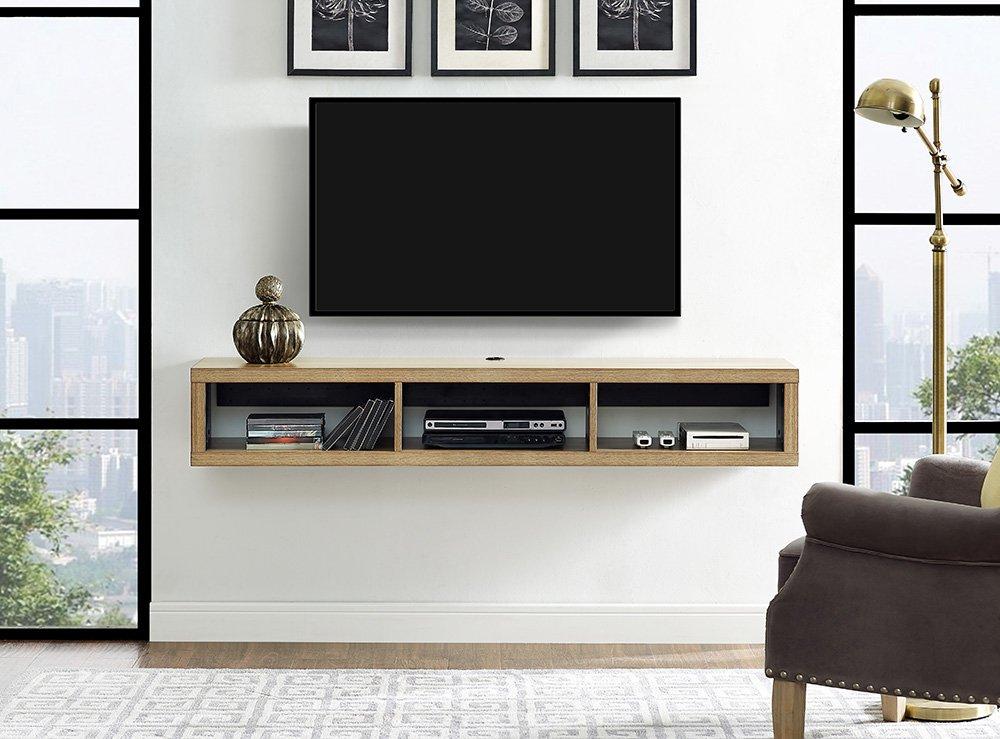 Martin Furniture IMSE360B Floating TV Console, 60'', Burka Bark by Martin Furniture