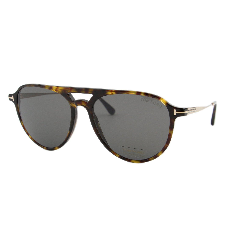 3c7b21a98f80 Amazon.com  Tom Ford FT0587 52A Dark Havana Carlo Pilot Sunglasses Lens  Category 3 Size 56m  Tom Ford  Clothing