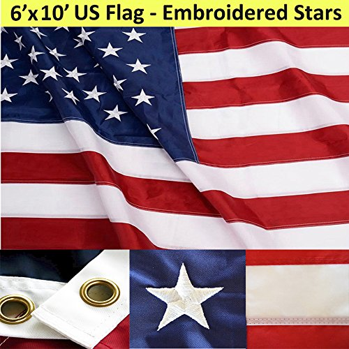 Flag Large (6ft x 10ft Superstream Sewn Nylon American Flag)