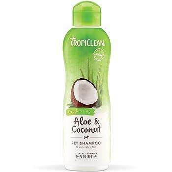 TropiClean Aloe & Coconut Deodorizing Shampoo for Pets