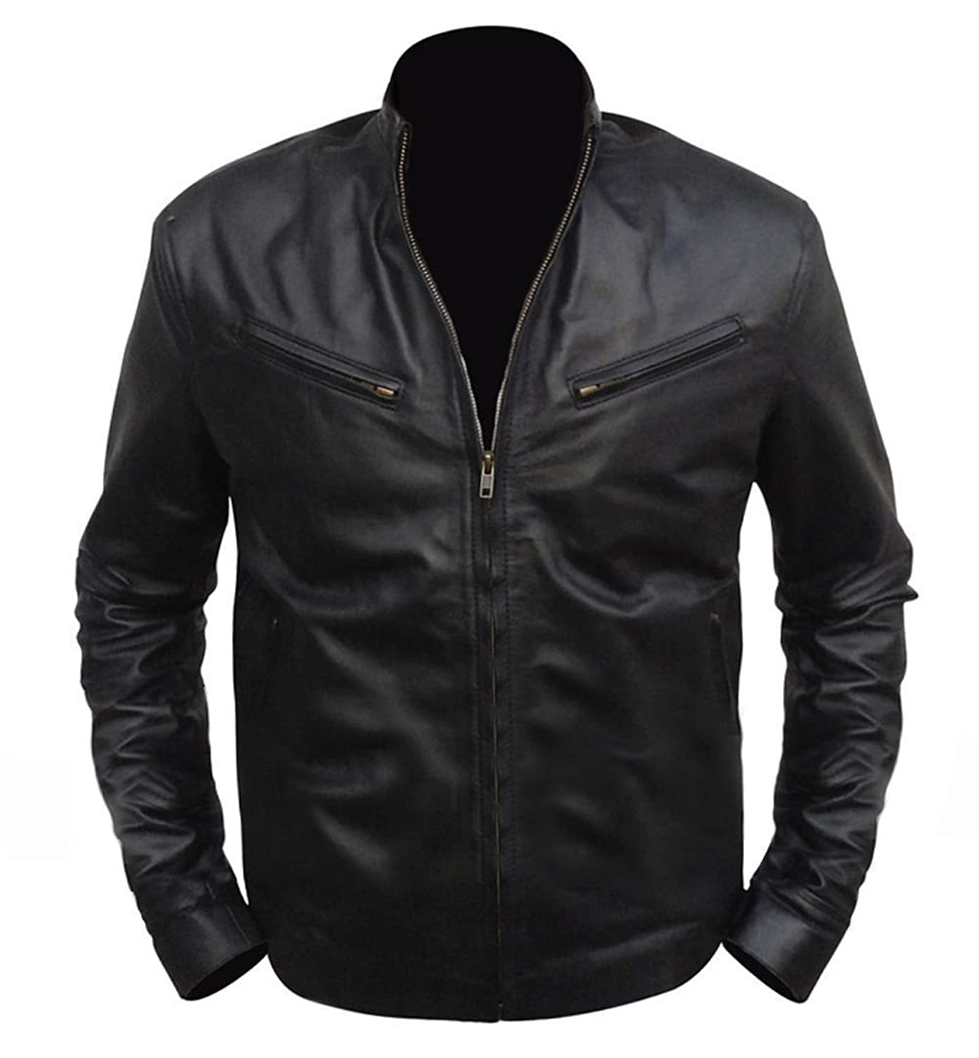 Fast And Furious 6 Vin Diesel Mens Biker Retro Leather Jacket