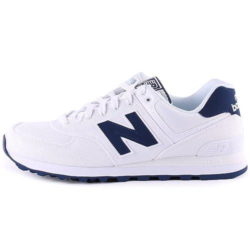 New Balance Schuhe ML 574 white-blue (ML574HRW) 38,5 weiss: Amazon ...