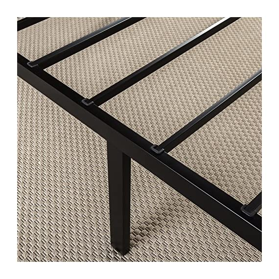 Zinus Abel 14 Inch Metal Platform Bed Frame / Mattress Foundation / No Box Spring Needed / Steel Slat Support / Easy Quick Lock Assembly, Queen - 14 inches with 13 inches of clearance under the frame for valuable under bed storage space Compact design allows for tight spaces such as staircases and doorways Reliable & extra durable steel slat mattress foundation - bedroom-furniture, bedroom, bed-frames - 61%2BmWnCJJQL. SS570  -